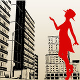 Stedelijke Dame vector illustratie