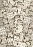 Stedelijke de bouwachtergrond stock afbeelding