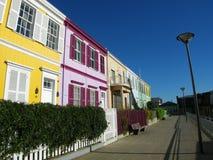Stedelijke de huizen in de stad van de stadsstraat Stock Afbeelding