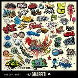 Stedelijke de kunstelementen van Graffiti Royalty-vrije Stock Fotografie
