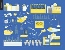 Stedelijke de landbouw en het tuinieren elementen vector illustratie