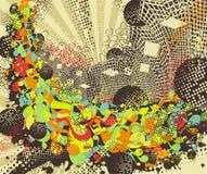 Stedelijke discoachtergrond. Stock Afbeeldingen