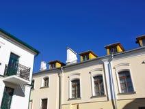 Stedelijke Europese architectuur: de gebouwen van de grote stad Stock Foto's