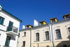 Stedelijke Europese architectuur: de gebouwen van de grote stad Royalty-vrije Stock Afbeelding