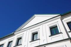 Stedelijke Europese architectuur: de gebouwen van de grote stad Stock Afbeelding