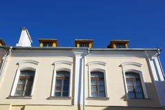Stedelijke Europese architectuur: de gebouwen van de grote stad Stock Afbeeldingen