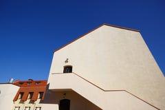 Stedelijke Europese architectuur: de gebouwen van de grote stad Royalty-vrije Stock Foto