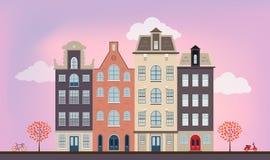 Stedelijke Europese huizen Stock Afbeeldingen