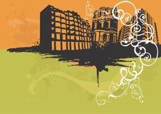Stedelijke gebouwen vector illustratie