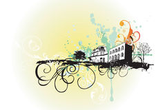 Stedelijke gebouwen royalty-vrije illustratie