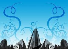 Stedelijke gebouwen/installaties Stock Afbeeldingen
