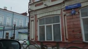 Stedelijke gebouwen in somber weer stock videobeelden