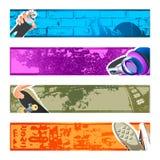 Stedelijke geplaatste bannerachtergronden Royalty-vrije Stock Foto