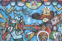Stedelijke Graffiti met bericht royalty-vrije stock foto's