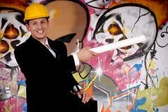 Stedelijke graffiti van de supervisor stock afbeeldingen