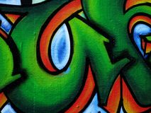 Stedelijke graffitisamenvatting Stock Fotografie