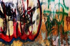 Stedelijke grungegraffiti Stock Foto's