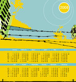 stedelijke grungekalender van 2008. Royalty-vrije Stock Fotografie