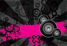 Stedelijke grungy muziekachtergrond met plaats voor tekst vector illustratie