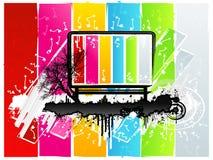 Stedelijke het aanplakbordachtergrond van de regenboog Stock Foto's