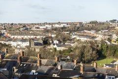 Stedelijke horizon, Barry, Wales, het UK stock foto's