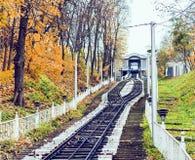 """Stedelijke kabelbaan populaire openbare vervoer in van Kiev, de Oekraïne †het """" stock foto"""