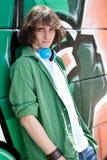 Stedelijke kerel met hoofdtelefoon Royalty-vrije Stock Fotografie