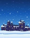 Stedelijke Kerstmis stock illustratie