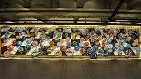 Stedelijke kunst op de muur; marmermozaïek Royalty-vrije Stock Foto's