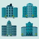 Stedelijke landschap en stads het levens Vectorillustratie Royalty-vrije Stock Foto