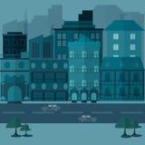 Stedelijke landschap en stads het levens Vectorillustratie Royalty-vrije Stock Afbeelding