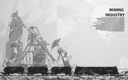 Stedelijke landschaps technogenic industriële onderwerpen royalty-vrije illustratie