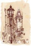 Stedelijke mening - Praag, Tsjechische Republiek Stock Afbeelding