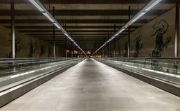 Stedelijke mening van cais DE sodre metro post in Lissabon Portugal royalty-vrije stock foto