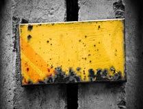Stedelijke metallplaat van Ellow Stock Foto's