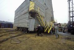 Stedelijke oliebron in Torrance, Delamo-Bedrijf, CA Stock Afbeeldingen