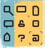 Stedelijke pictogrammen voor Web Stock Foto's