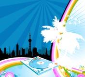 Stedelijke regenboog Stock Foto