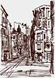 Stedelijke schets royalty-vrije illustratie