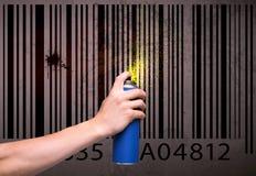 Stedelijke schilderstekening Stock Foto