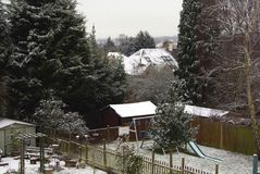 Stedelijke sneeuwscène Royalty-vrije Stock Foto