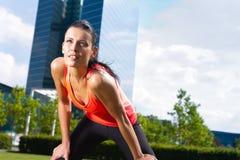 Stedelijke sporten - fitness in de stad Royalty-vrije Stock Foto