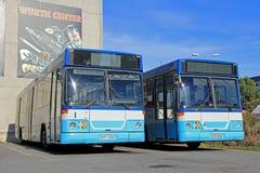 Stedelijke Stadsbussen royalty-vrije stock afbeeldingen