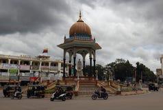 Stedelijke stijl en eigenschappen van Mysore in India Stock Foto