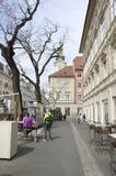 Stedelijke straatmening Graz Stock Afbeeldingen