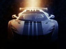 Stedelijke super sportscar - epische verlichting vector illustratie