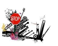 Stedelijke vector Stock Foto's