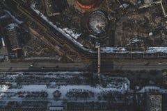 Stedelijke verlaten fabriek stock afbeeldingen