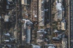 Stedelijke verlaten fabriek royalty-vrije stock foto's