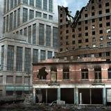 Stedelijke Vernietiging Stock Foto